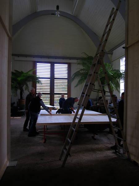 Aufbau in der Orangerie
